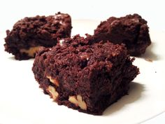 vegan Crumb Cake Walnut Brownies