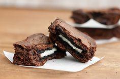 Hot Fudge Sundae Oreo Brownies