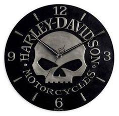 Harley-Davidson Sculpted Skull Wall Clock. 99366-10V