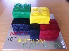Lego Cake Rainbow sponge covered with fondant Cake Rainbow, Lego Cake, Fondant, 30th, Birthday Cake, Cakes, Desserts, Food, Tailgate Desserts