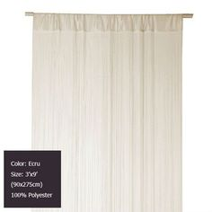 Wholesale (12 pieces/lot) 3'x9' (90x275cm) Ecru fringe string curtain use for home decoration and room divider Free shipping on AliExpress.com. $188.76