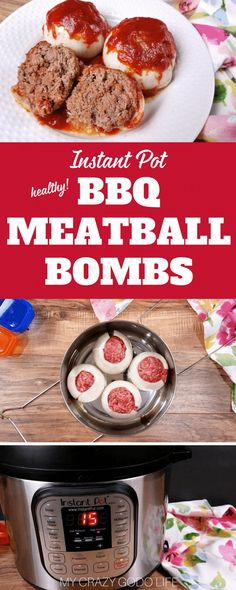 Mini BBQ Meatloaf Bombs are a delicious and healthy dinner that is family friendly! For those of you who don't want to make one big meatloaf, I love making this 21 Day Fix mini meatloaf dinner!Mini Onion Bombs | Crockpot Mini Meatloaf | Instant Pot Mini Meatloaf | 21 Day Fix dinner recipe | Instant Pot BBQ #instantpot #21dayfix #bbq