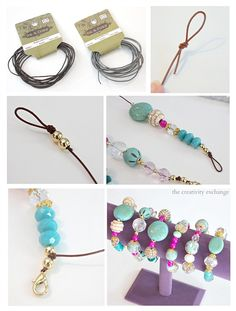 Easy DIY knot bracelets and necklaces using leather cord. Anyone can make these! The Creativity Exchange