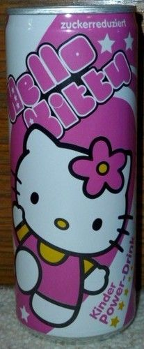 HELLO KITTY Kinder Power-Drink CAN soda cans GERMANY