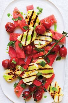 Haloumi & Watermelon, typical Summer snack in Cyprus