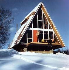 architect Henrik Bull, the Flender A-Frame 1954