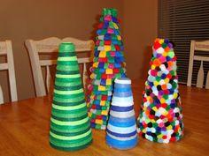 Inspired Whims: Homemade Felt Christmas Trees