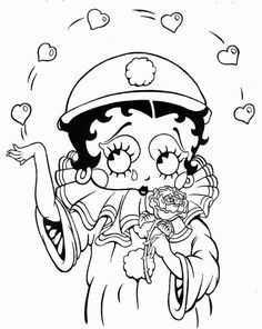 free adult coloring Betty Boop pages printable | betty-boop-coloring ...
