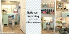 Bathroom organizing tips and tricks- filled with lots of DIY projects to organize your bathroom!