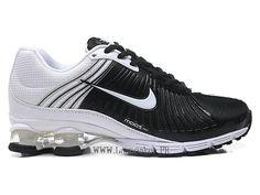 super popular a19c4 1fa1b Nike Air Shox Deliver Fabrique Chaussures de basketball Pas cher Homme Blanc  noir