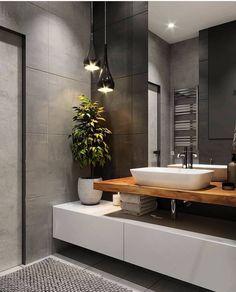 ♻️ Дизайн стиле ЛОФТ / Design Loft ▫️ Design Bedroom by Bathroom Design Luxury, Simple Bathroom, Bathroom Layout, Modern Bathroom Design, Design Bedroom, Serene Bathroom, Loft Bathroom, Bathroom Mirrors, Contemporary Bathrooms
