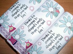 Personalised Chocolate Wrappers - starting at just £1.95 for 12 wrappers - all events catered for - just drop us an email.