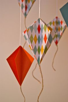 paper kites - 1st birthday decor