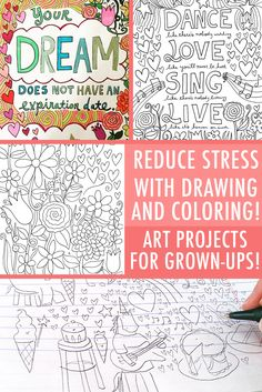 When it comes to stress relief, coloring, doodling and drawing are summer's hottest method for chilling out! Find out how these stress-busting activities can help you relax, and check out Craftsy's FREE coloring pages and drawing tutorials.