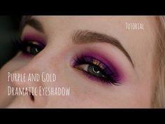 Purple and Gold Dramatic Eyeshadow Tutorial - YouTube