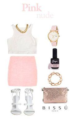 Para estar elegante y con el mejor estilo, en esas hermosas tardes de verano, mira qué bonito este outfit Pink Nude, para lucir con un bolso de mano de Bissú.  #moda #bolsos #outfit #fashion #bag #backpack #instafashion #complements #accessories #bolsos #outfitoftheday #accesorios #HashTags #beautiful #beauty #nuevatemporada #pink #lovingthuya