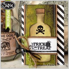 Trick or Treat Apothecary Bottle Card http://blog.sizzix.com/apothecary-bottle-card/