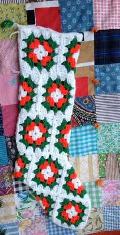 Granny Square Stocking by lishyloo on Etsy, $10.00