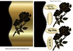 Gold and Black Rose on Craftsuprint - View Now!