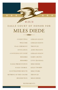 Eagle Scout Court of Honor Matching Photo Card by Dawn2DuskDesign, $20.00