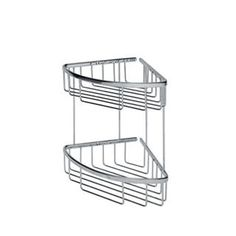 WS Bath Collections Filo x Shower Basket Double in Polished Chromed