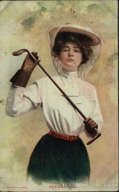 Autumn Girl - Woman Holding Golf Club Women