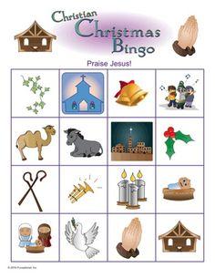 Christian Christmas Picture Bingo