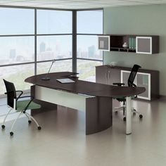 Complete Contemporary L-Desk Office Set #officedesign