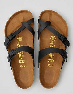 Cork. A buckle or two. That's the original Birkenstock. Size 8.5