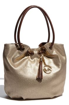 MICHAEL by Michael Kors 'ring' metallic leather tote...must have