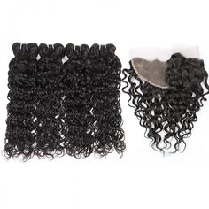 Mink Indian Hair Extensions Natural Black Virgin Remy Water Wave Human Hair Weave Bundles  With 13x4 Ear To Ear Lace Frontal Cheap Hair Extensions For DIY Cheap Human Hair lace Front Wigs #Indianhair #minkhair #lacewigs
