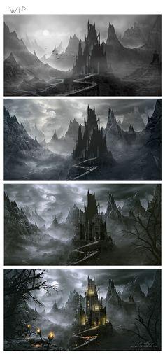 WIP - (Dracula's Castle) Work in Progress by Whendell on DeviantArt via cgpin.com