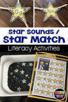 Star Sounds & Star Match Literacy Activities
