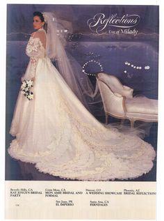 Modern Bride Feb/Mar 1984 Chic Vintage Brides, Vintage Gowns, Vintage Bridal, Vintage Weddings, 1980s Wedding Dress, Gorgeous Wedding Dress, Wedding Dresses, Bridal Looks, Bridal Style