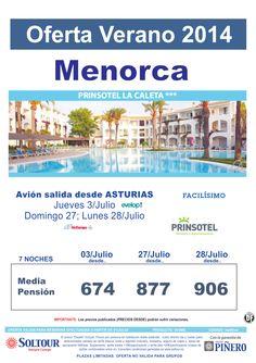Menorca - Oferta Hotel Prinsotel La Caleta, salidas 3, 27 y 28 Julio desde Asturias ultimo minuto - http://zocotours.com/menorca-oferta-hotel-prinsotel-la-caleta-salidas-3-27-y-28-julio-desde-asturias-ultimo-minuto/