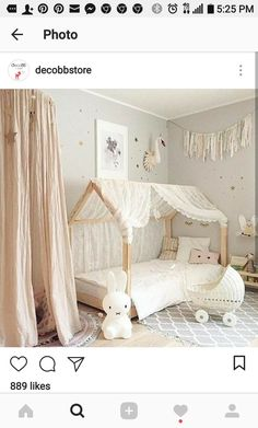 ▷ ideas for baby girl room - Kinderzimmer ♡ Wohnklamotte - BabyZimmer İdeen Baby Bedroom, Baby Room Decor, Nursery Room, Bedroom Decor, Room Baby, Baby Rooms, Girl Nursery, Baby Playroom, Child Room