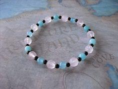 Carved pink quartz  bracelet by Shynnasplace on Etsy, $20.00
