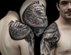 3D Compass Tattoo on shoulder - 40 Awesome Compass Tattoo Designs  <3 <3