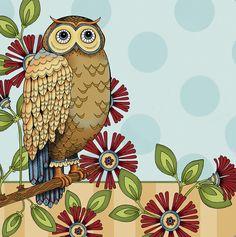 Owl art by Karla Dornacher Owl Illustration, Owl Card, Owl Pet, Animal Totems, Acrylic Art, Spirit Animal, New Art, Painting & Drawing, Birds