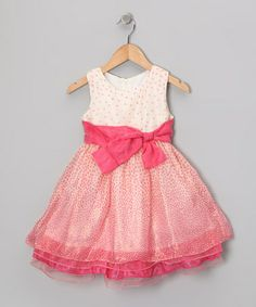 Take a look at this Pink & White Bow Dress - Girls by Bonny Billy on #zulily today! http://www.zulily.com/invite/vhanson979