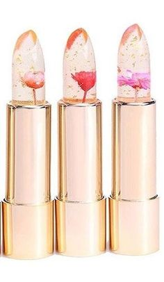 These mesmerizing clear lipsticks are inspired by Beauty and the Beast and made with REAL flowers.