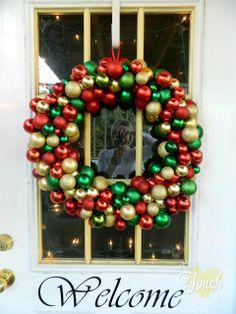 Thrifty DIY Ornament Wreath