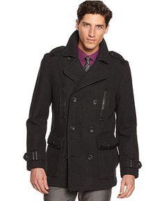 INC International Concepts Coat, Malus Herringbone Coat - Mens Coats & Jackets - Macy's