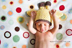 Ravelry: Giraffe Baby Hat Pattern 0-12 months pattern by Melissa Wenn