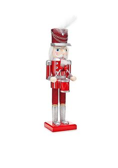Home Accents® Merry & Bright 2-ft. Red and White Drummer Nutcracker