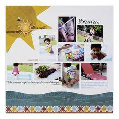 Classic Summer Addition Scrapbook Layout Idea from #CreativeMemories    http://www.creativememories.com