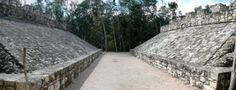 Mayan pyramids are flat on the top. Often times Mayans would build new pyramids on top of old ones.