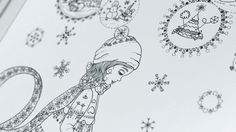 Magical snowglobe - Charming Christmas - black and white illustration / coloring poster Neutral Color Scheme, Color Schemes, Poster Colour, Black And White Illustration, All Poster, Snow Globes, How To Draw Hands, Coloring, Elephant