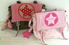 Kindergartentaschen - Kindergartentasche mit Stern und Namen - ein Designerstück von lillemore bei DaWanda
