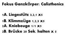 Calisthenics Einheit – Ganzkörper Training mit nur 4 Übungen